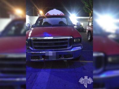 En Puebla detienen a huachicoleros con pipa de gas falsa