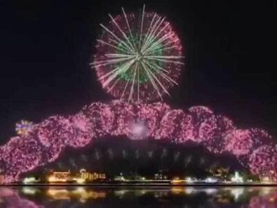 Fuegos artificiales de Tokyo 2020, encendidos