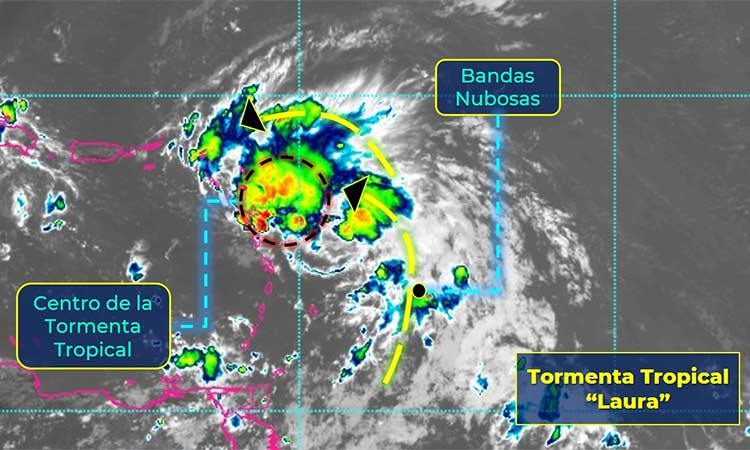 La tormenta tropical Laura se acercará sin peligro a Quintana Roo.
