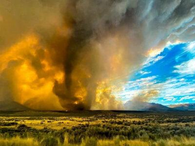 Tornado de fuego sorprende a los habitantes del norte de California