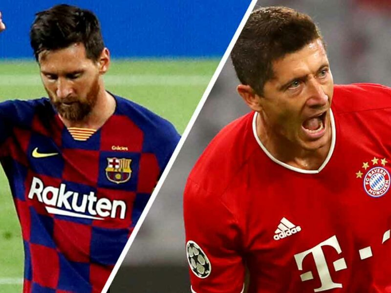 Messi y Lewandowski se enfrentarán en cuartos de final.