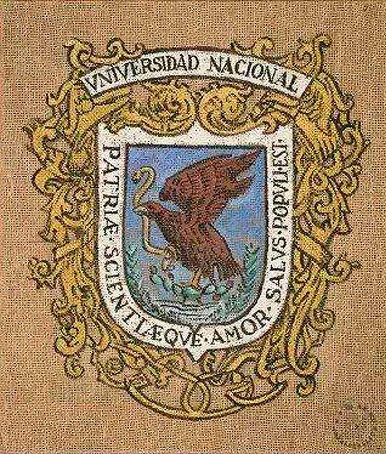 Escudo original de la Universidad Nacional de México