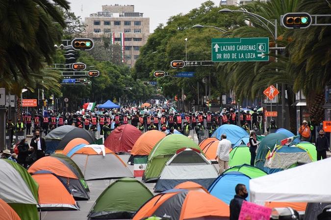 CDMX: FRENA organiza marcha, exige salida de AMLO