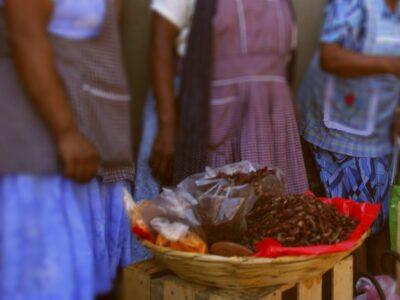 Oaxaca: Policías detienen y tiran chapulines a vendedora