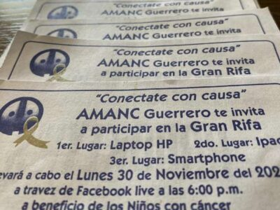 Hacen rifa para comprar medicamentos a niños con cáncer de Acapulco