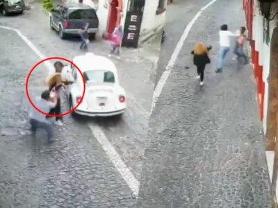 robar bolso Taxco golpiza