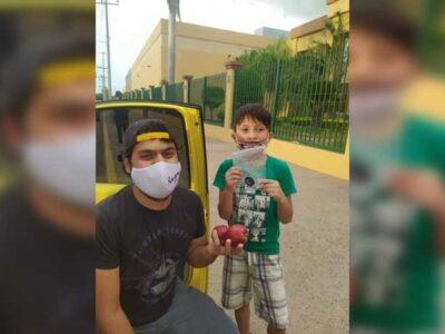 Sinaloa: niño pide trueque de 2 manzanas por un tazo en Culiacán