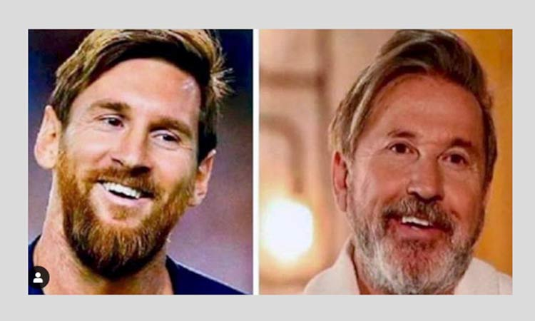 Leo Messi y Ricardo Montaner