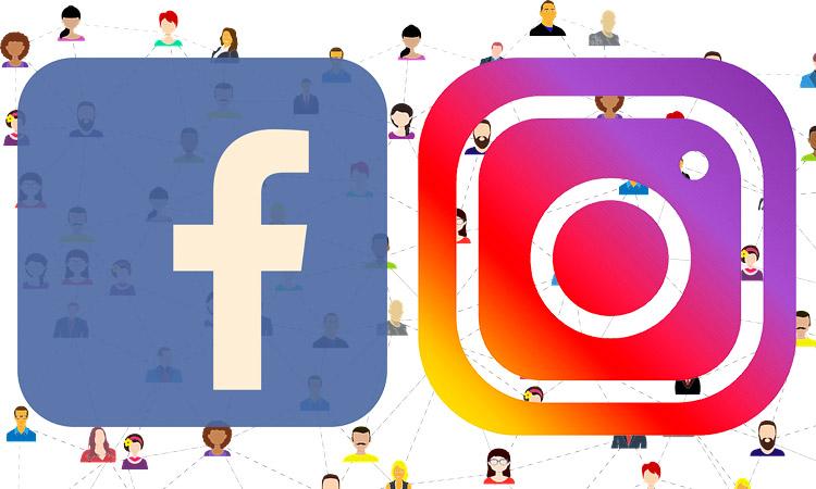 gotas de Instagram, facebook