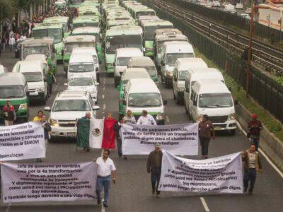 Transportistas de CDMX preparan megamarcha para este jueves