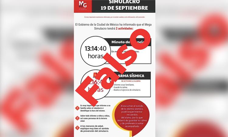Macrosimulacro: autoridades piden no hacer caso a fake que circula en redes