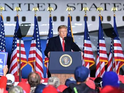 Donald Trump había dicho que quería dar su discurso en persona.