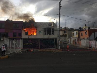 Derechos humanos: queman instalaciones en Ecatepec, Estado de México