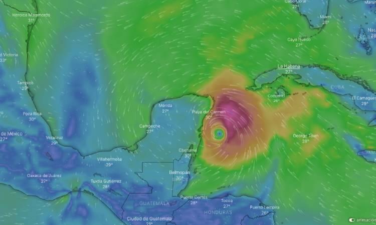 Tormenta Tropical Zeta se convierte en huracán categoría 1.