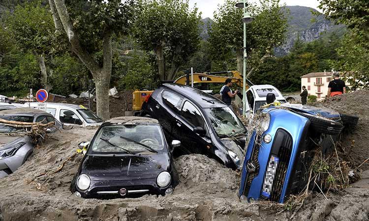 Inundaciones en Francia e Italia dejan muertos y desaparecidos
