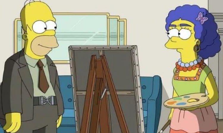 ¡Ay caramba! Los Simpson dan vida a Frida Kahlo y Diego Rivera