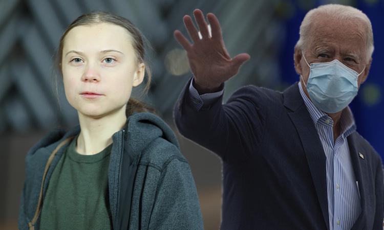 Greta Thunberg Biden