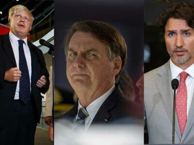 Varios líderes ya han sido contagiados en estos tempos de pandemia. Foto: AFP