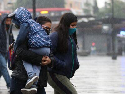 Día con chubascos y lluvias