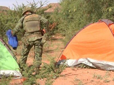 campamento delictivo en zacatecas