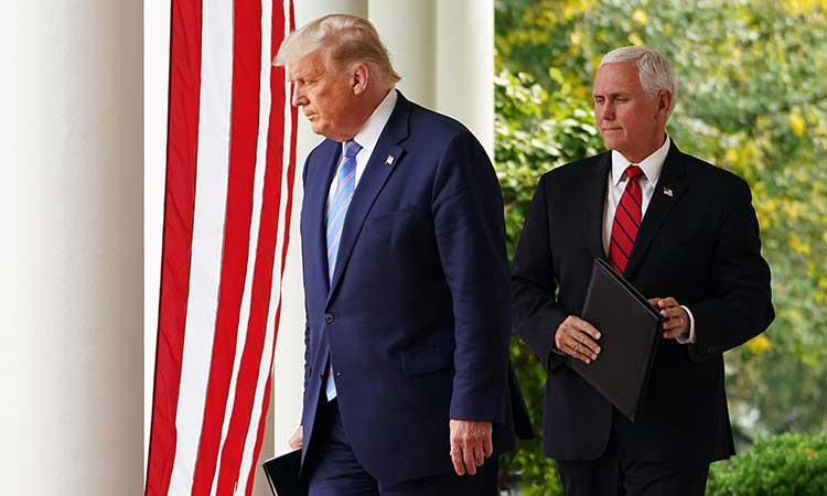 Donald Trump y Mike Pence en la Casa Blanca.