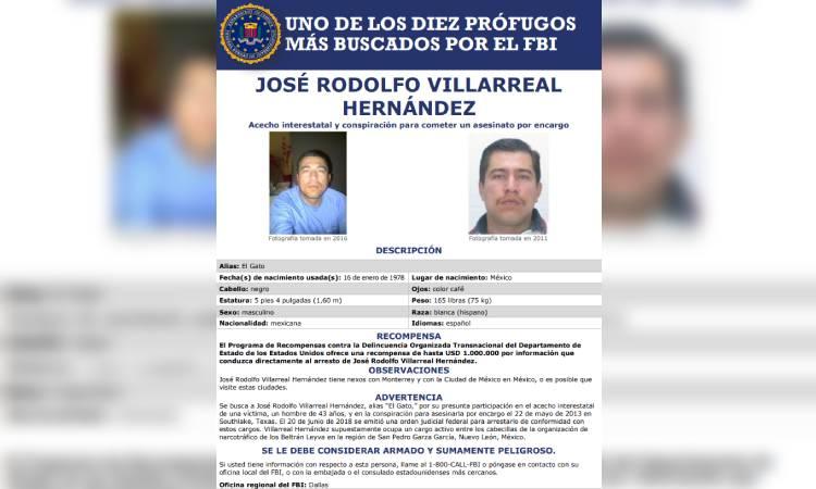 FBI 10 más buscados Caro Quintero Villarreal-Hernández