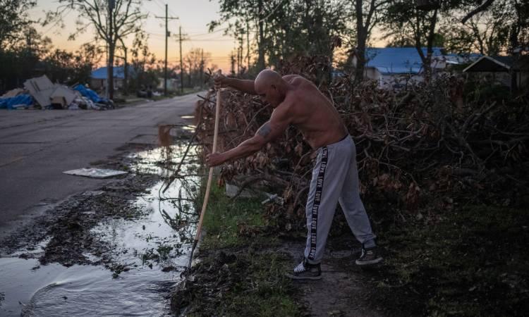 Huracán Delta Luisiana