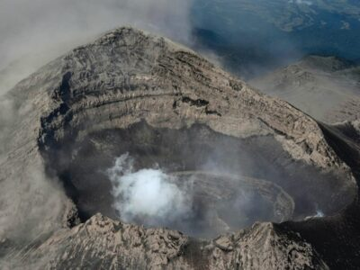 Popocatépetl: realizan sobrevuelo y encontraron esto