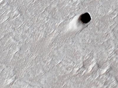tubo de lava en Marte