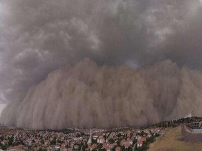 Baja California Sur: Tormenta de polvo y granizo sorprende a Comondú