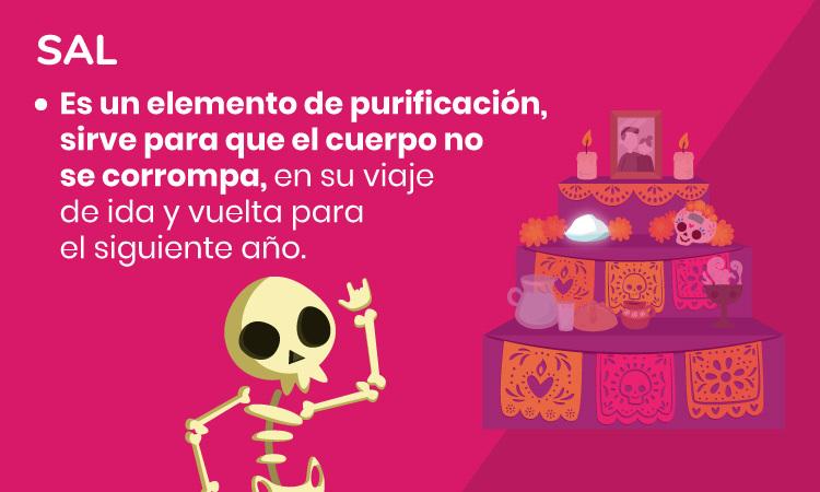 sal ofrenda Día de Muertos