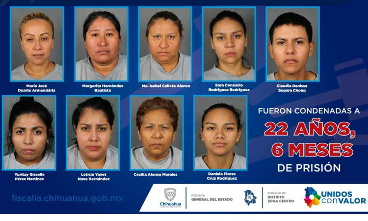 Chihuahua sentencia a 9 extorsionadoras que operaban desde Tamaulipas