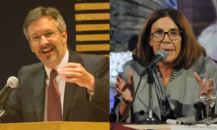 John Ackerman y Sabina Berman