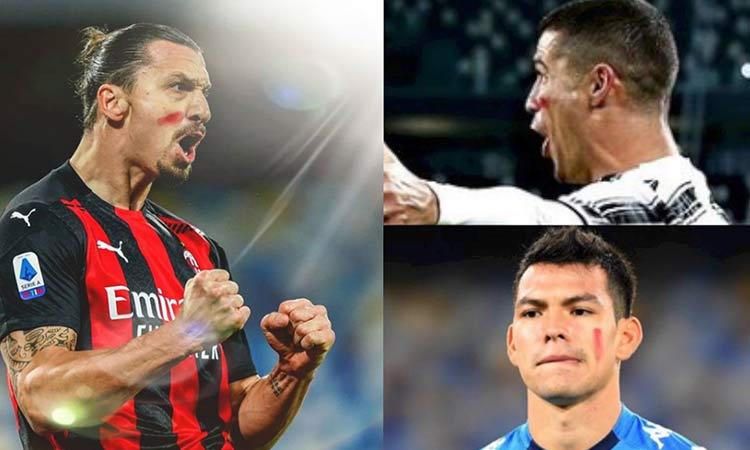 """Cristiano, Zlatan y hasta """"Chucky"""" se pintaron la cara de rojo, ve por qué"""