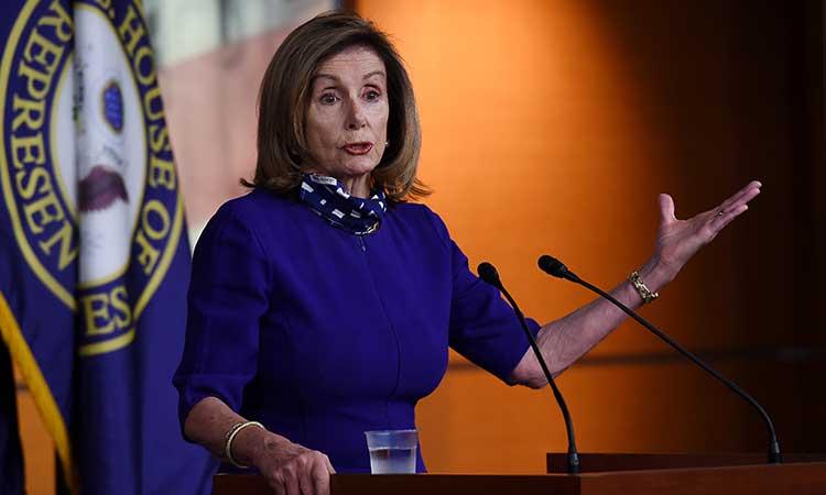 Nancy Pelosi, la principal enemiga del presidente saliente Donald Trump en el Congreso. Foto: AFP