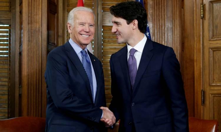 Justin Trudeau Joe Biden