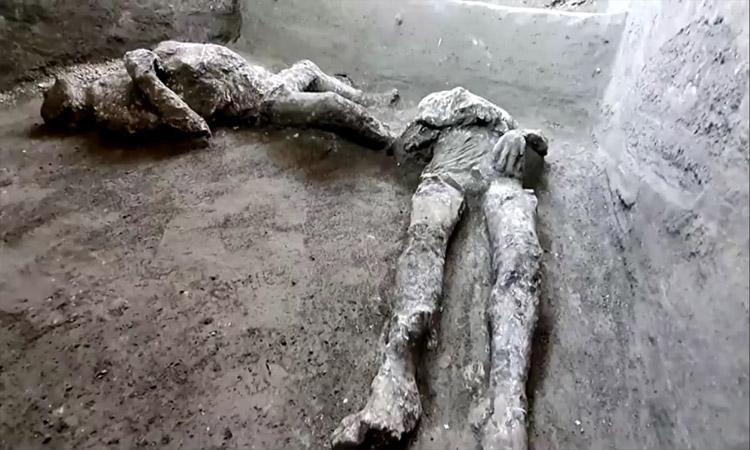 Erupción en Pompeya: hallan cuerpos que murieron casi intactos