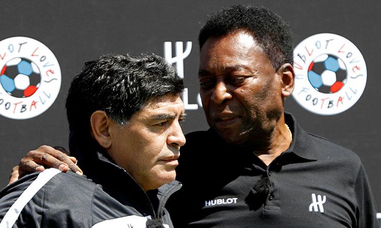 Pelé lanza emotivo mensaje a Diego Maradona tras su fallecimiento