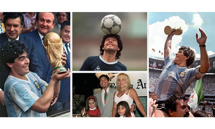 Maradona y sus momentos emotivos
