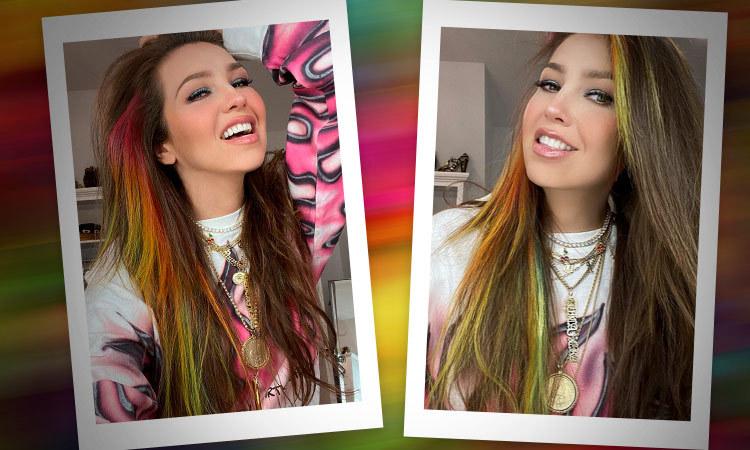 Thalía cambia de look: sorprende con cabello teñido de colores