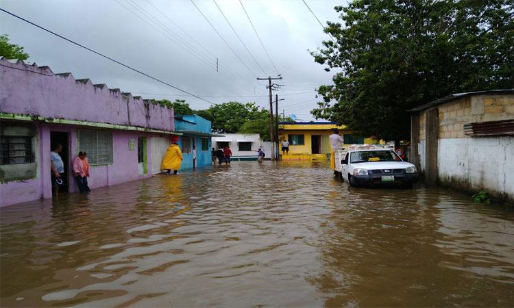 En Veracruz, lluvias causan diversas afectaciones en Choapas