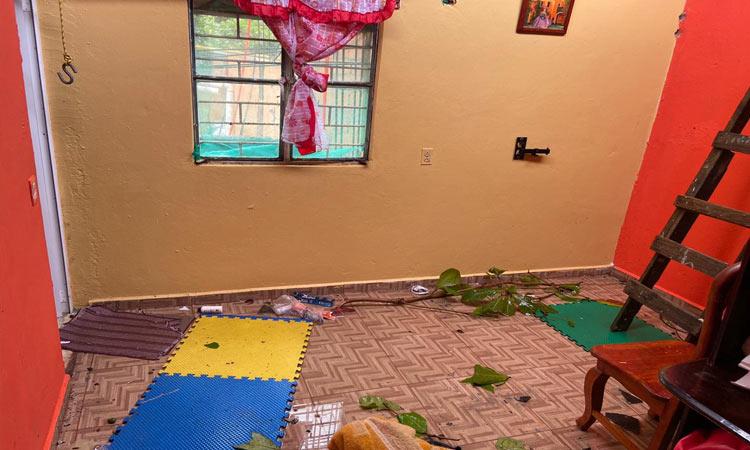 En Veracruz, tornado causa destrozos en casas