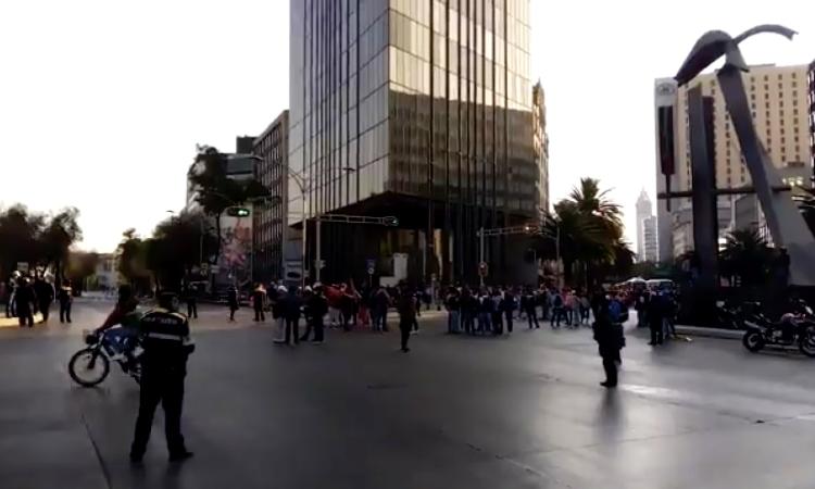 CDMX: maestros de la CNTE bloquean Paseo de la Reforma