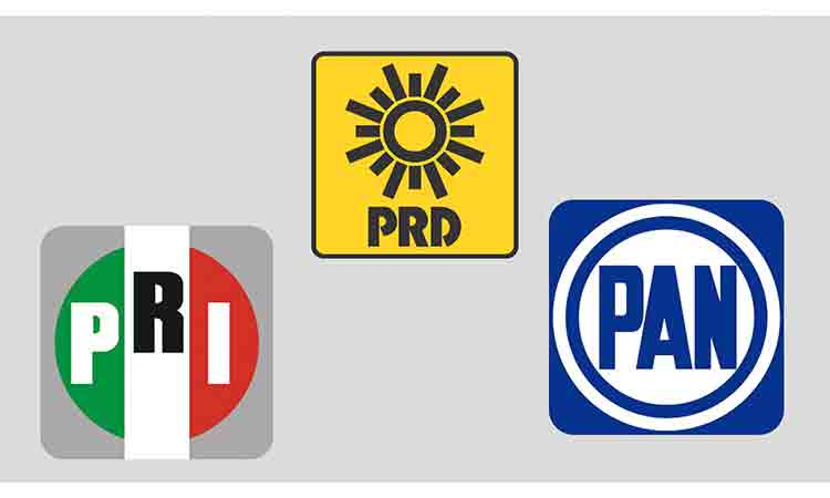 PRI, PAN y PRD