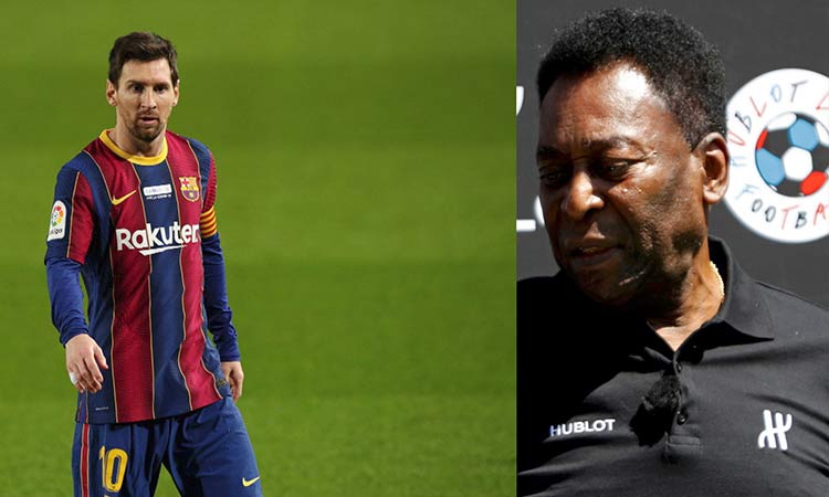 Messi iguala récord de Pelé