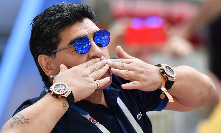 Cuerpo De Maradona Conservado