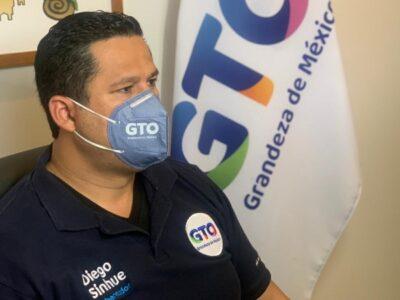 Diego Sinhue Rodríguez Vallejo, hospitalizado por COVID-19