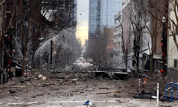 Cámara capta mensaje y momento exacto de la explosión en Nashville