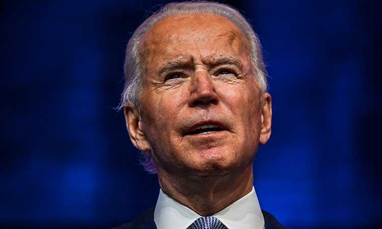 Joe Biden, presidente electo de EU. Foto:AFP