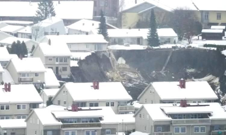 Noruega deslizamiento tierra